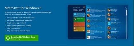 MetroTwit: otro gran cliente de Twitter para Windows 8 que debes usar | TIC, TAC , Educación | Scoop.it