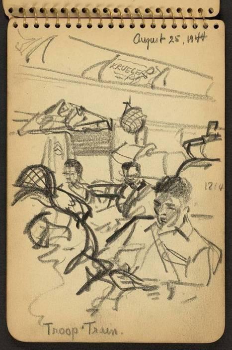Quand un jeune soldat de 21 ans dessinait la Seconde Guerre Mondiale | Bibliorunner, un tech. doc. à l'affût! | Scoop.it