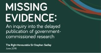 Missing evidence: an inquiry into the delayed publication of government commissioned research | Higher education news for libraries and librarians | Scoop.it