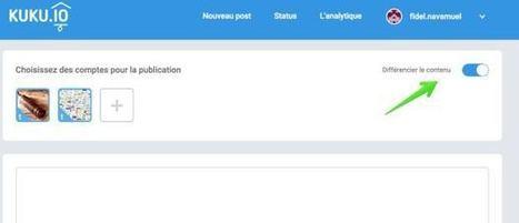 Kuku. Nouvel outil pour publier sur les différents réseaux sociaux (Les outils de la veille) | Quatrième lieu | Scoop.it