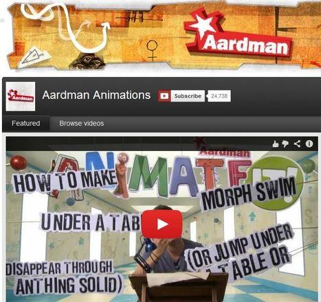 Aardman Animations You Tube Channel   talkPrimaryAnimation   Scoop.it