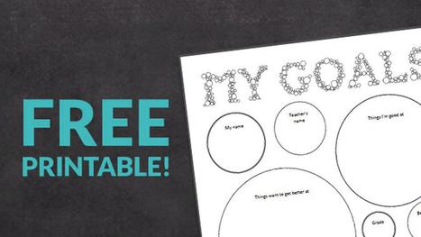 FREE Printable of the Week: Back-to-School Goal Setting - WeAreTeachers | Cool School Ideas | Scoop.it