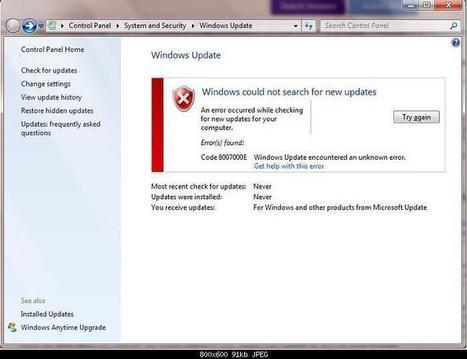 FIX: Windows Update Error Code 8007000E - PC Error Repair Solutions n Guide   Fix Windows Error   Scoop.it
