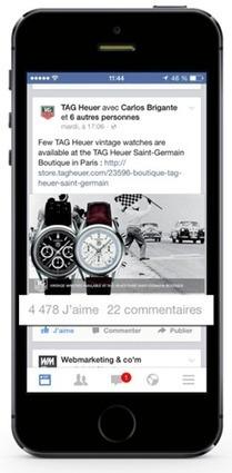 La promotion locale de Tag Heuer rapporte 4478 likes ! | Solocal Network, Leader du web to store | Scoop.it