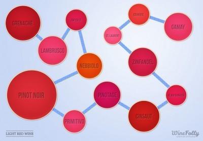 13 Common Light Red Wine Varieties | Wine Folly | Wine Harmony (TM) | Scoop.it
