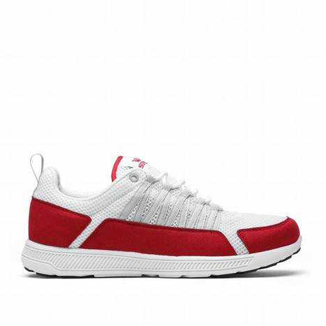 supra owen fast sneakers white red color - men run trainers | popular and new list | Scoop.it