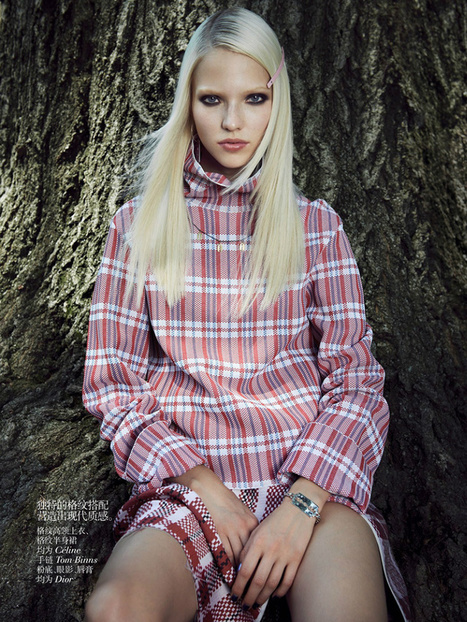 Sasha Luss by Max Vadukul for Vogue China October 2013 | The Fashionography | Fashion | Scoop.it