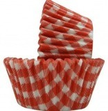 Red White check paper cupcake liners baking cups wrap 50 ct | Candy Buffet Weddings, Events, Food Station Buffets and Tea Parties | Scoop.it
