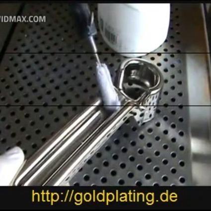 Arbeitsablauf Vergoldung eines Tuergriffs | 24ct Gold Plating | Scoop.it