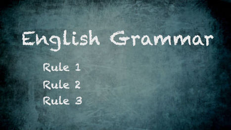 What are the correct rules of English grammar? | Learn English(ESL) with inovation Ideas | Scoop.it