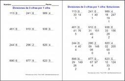 Fichas de divisiones con soluciones - Matemáticas Primaria | Matemáticas Primaria | Scoop.it