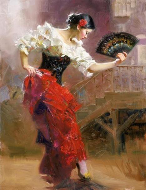 painting : Pino Dangelico-Spanish Dancer-26x20   Favorite Paintings digital   Scoop.it