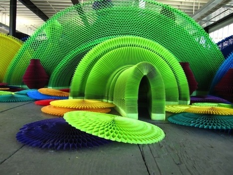 Dynamic Rainbow Installation Is Carefully Crafted from Hidden Shapes Addressing Gun Violence   Le It e Amo ✪   Scoop.it