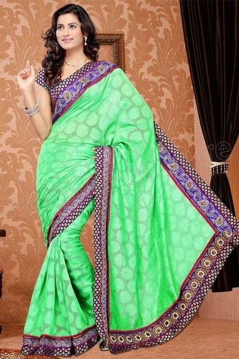 Exclusive And Colorful Sarees Collection For Party Wear By Natasha couture From 2014 | Women Fashion | Women fashion | Scoop.it