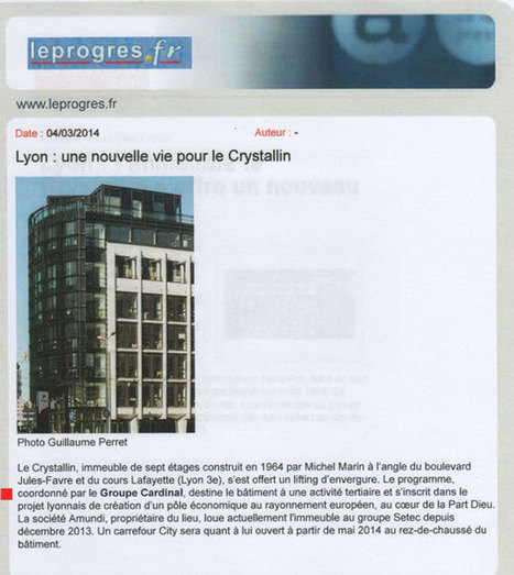 Groupe Cardinal - Revue de Presse mars 2014 - extraits | Jean Christophe Larose - Groupe Cardinal - Lyon | Groupe Cardinal | Scoop.it
