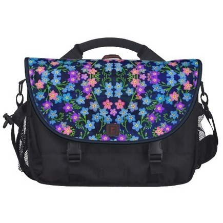 Forget Me Not Garden Flowers Commuter Bag from Zazzle.com | Messenger Bags, Purses & Totes | Scoop.it