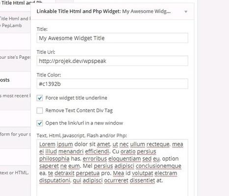 How to Make WordPress Text Widget Title Clickable - WPSpeak.com | WordPress Tip and Tutorials | Scoop.it