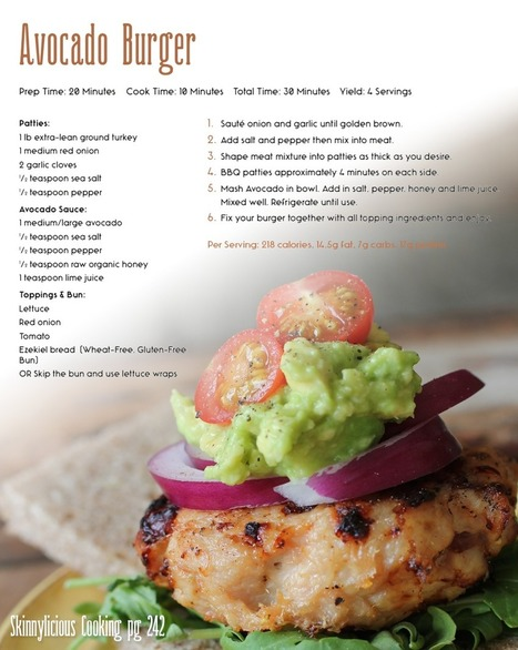 Healthy Weight Loss Recipe - Avocado Burger | Useful Fitness Articles | Scoop.it