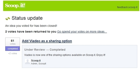 [Exclu] Scoop.it intègre Viadeo dans ses options de partage | Social Media l'Information | Scoop.it
