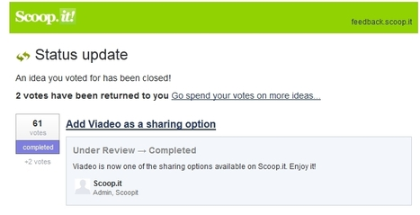 [Exclu] Scoop.it intègre Viadeo dans ses options de partage | Scoop4learning | Scoop.it