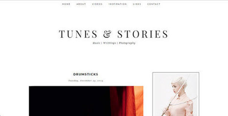 Tunes & Stories Blogger Theme | Blogger themes | Scoop.it