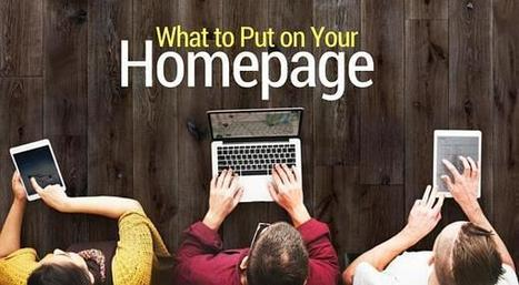 What to Put On Your Homepage: 19 Elements to Consider  | Website Pages Advice | Scoop.it