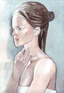 Original watercolor illustration portrait art painting of woman white sheet | Art | Scoop.it