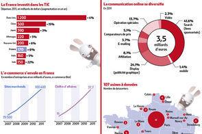 Infographie : les chiffres clés de la France du numérique | transition digitale : RSE, community manager, collaboration | Scoop.it