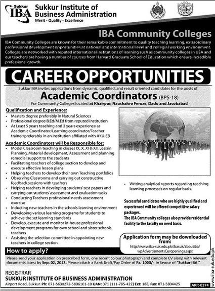 Sukkur Institute of Business Administration - IBA Jobs | sukkur city | Scoop.it