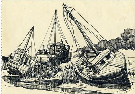 Flavorwire » Gallery: Sylvia Plath's Never-Before-Exhibited Drawings   Read Ye, Read Ye   Scoop.it