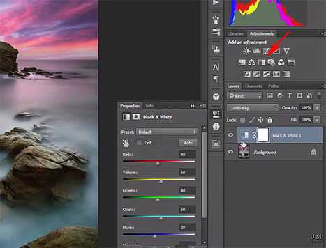 How to Use a B&W Layer in Photoshop to Adjust the Brightness of Colors In Photos | Photography | Scoop.it