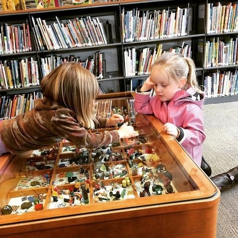 """Tara Jensen on Instagram: """"Coolest coffee table at the burnaby public library, so much I-spy fun! #library #learning #preschool #momlife #kids"""" 