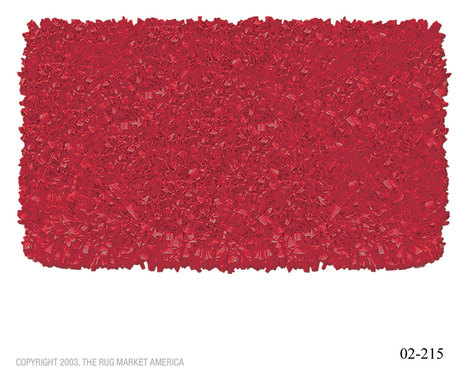 Rug Market Kids Shaggy Raggy Red Cotton 2215 Rug | Kids Rugs | Scoop.it