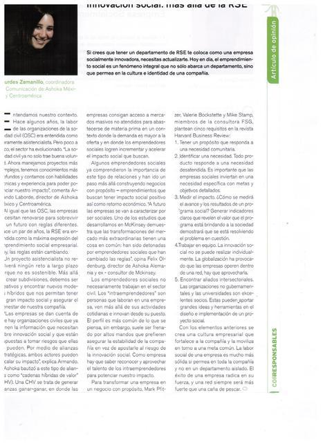 Innovación Social: Más allá de la RSE | Ashoka México y Centroamérica | Scoop.it