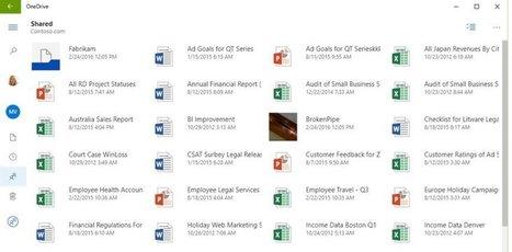 OneDrive : Microsoft publie son application universelle | Actualités du cloud | Scoop.it