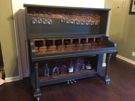 Upcycled Piano Bar~ Unique Wine Bar~ Conversation Piece~ SOLD | Upcycled Objects | Scoop.it