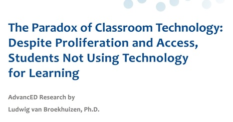 The Paradox of Classroom Technology | Learning Technology News | Scoop.it