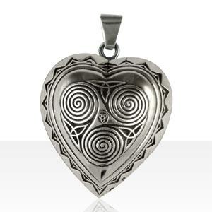 Médaille Argent COEUR TRISKELL GM | BIJOUX KELT | ANCIENS | TERRE DE BIJOUX.COM | Bijoux Celtiques & Bretons KELT | Scoop.it