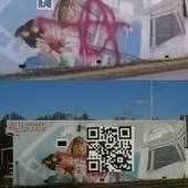 Artist repairs vandalized mural with giant QR code   artcode   Scoop.it