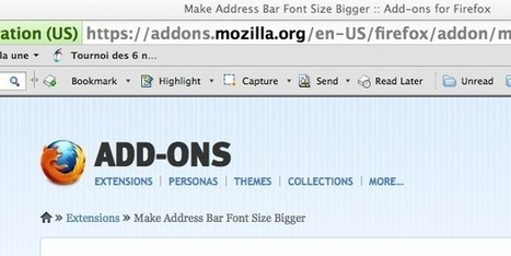 Grossissez la taille des URL de la barre d'adresse de votre navigateur Firefox | Time to Learn | Scoop.it