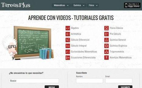 TareasPlus: una gran colección de vídeos en español para aprender matemáticas, física y química.- | discapacidad y esducación | Scoop.it
