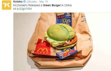 Mac Donald's lance des burgers rouges et verts en Chine pour promouvoir Angry Birds | HiddenTavern | Scoop.it