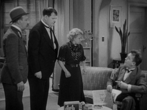 """Laurel and Hardy in """"Thicker Than Water"""" 