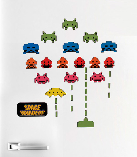 Space Invaders Fridge Magnets: Once Your Base is Destroyed, So are Your Perishables | All Geeks | Scoop.it