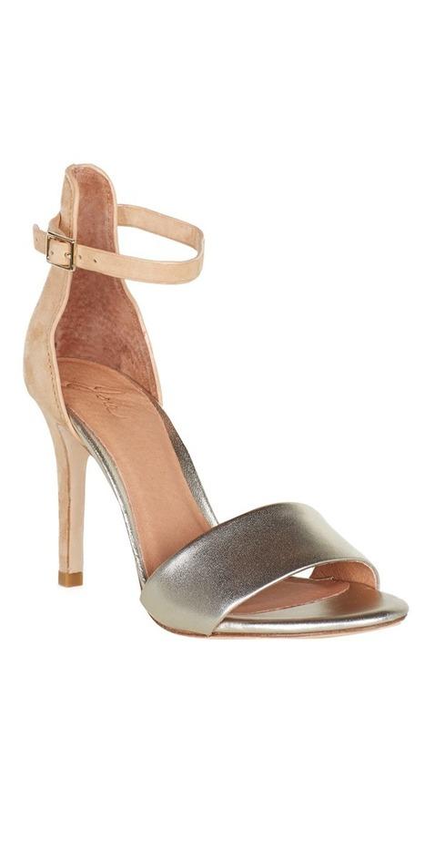 JOIE Jaclyn Heels Nude/Platinum | High Heel Sandals | beauty girl | Scoop.it