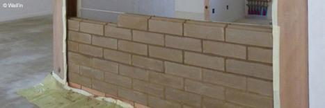 Argibrique : une cloison à forte inertie thermique réalisée en argile | Architecture Passive et Positive | Scoop.it