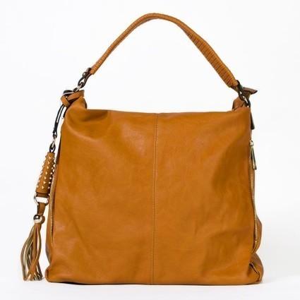 Grand sac à main marron cognac ou rose fuchsia à pompon   Accessoires de mode femme   Scoop.it