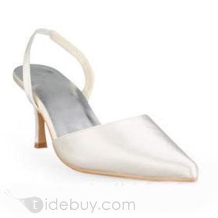 New Design Satin Upper Stiletto Heel Slingbacks Wedding Shoes | sweet heart | Scoop.it