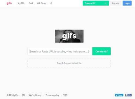 Gifs.com Création de gifs en ligne – Les outils de la veille | Les outils du Web 2.0 | Scoop.it