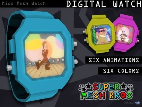 Kids Mesh Watch by Super Mesh Bros | Teleport Hub - Second Life Freebies | Second Life Freebies | Scoop.it